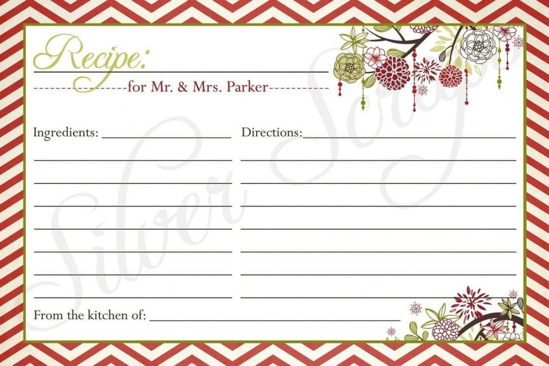 000 Fearsome Editable Recipe Card Template Highest Quality  Free For Microsoft Word 4x6 PageFull