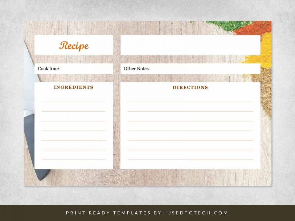 000 Fearsome Free 4x6 Recipe Card Template For Microsoft Word Concept  Editable960