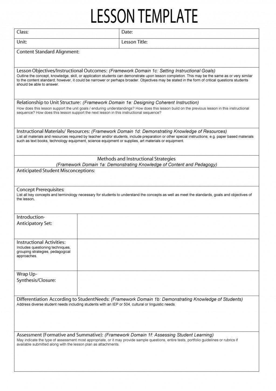 000 Fearsome Free Blank Lesson Plan Template Pdf Idea  Weekly EditableLarge