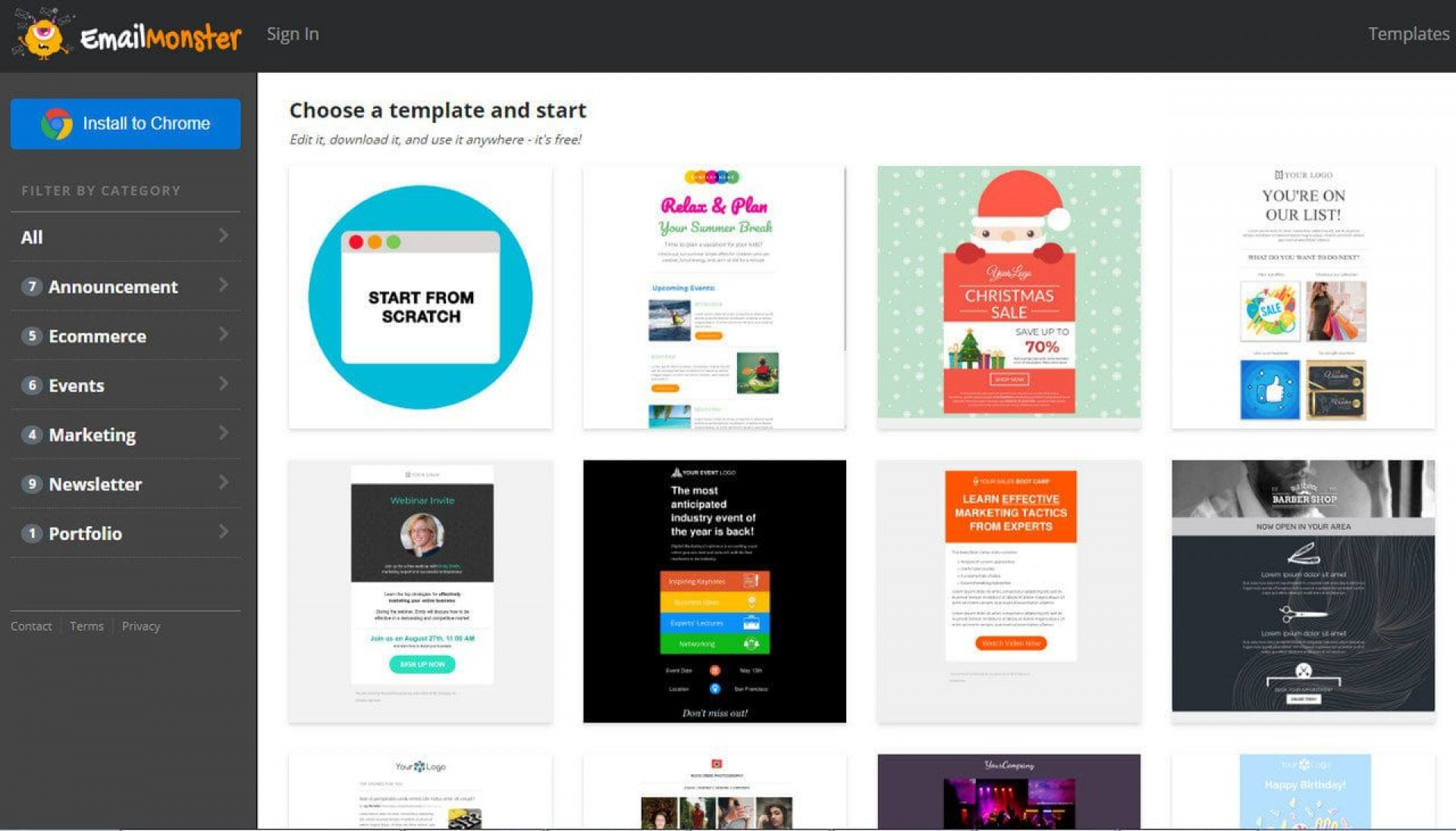 000 Fearsome Free Email Newsletter Template Download Inspiration  Busines Psd1920