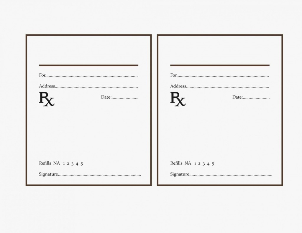 000 Fearsome Free Fake Prescription Label Template Example Large