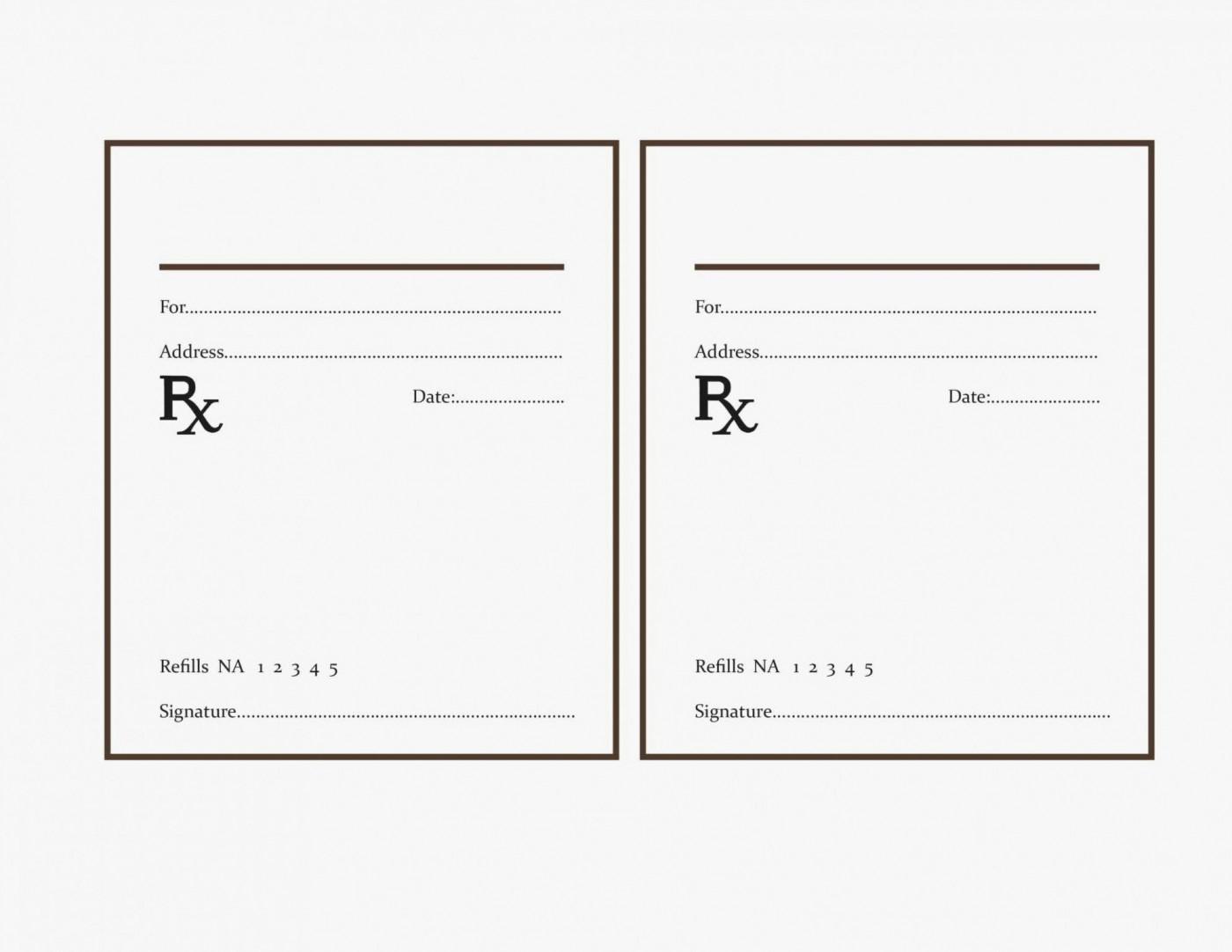 000 Fearsome Free Fake Prescription Label Template Example 1400