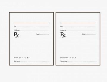 000 Fearsome Free Fake Prescription Label Template Example 360