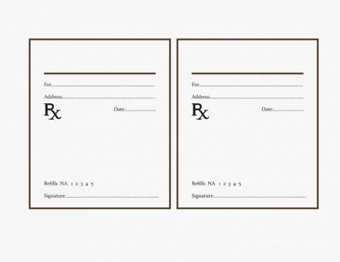 000 Fearsome Free Fake Prescription Label Template Example 480