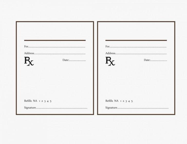 000 Fearsome Free Fake Prescription Label Template Example 728