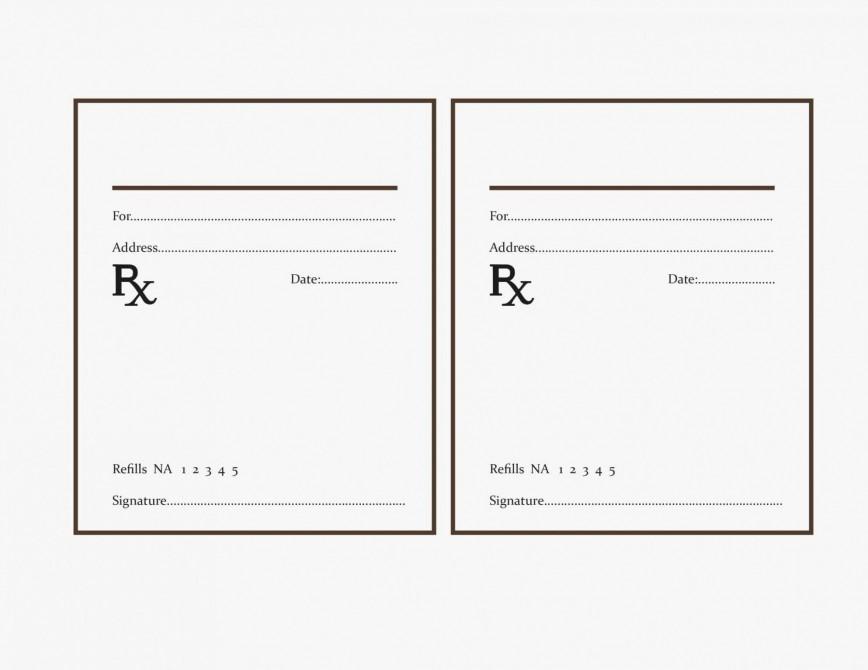 000 Fearsome Free Fake Prescription Label Template Example 868