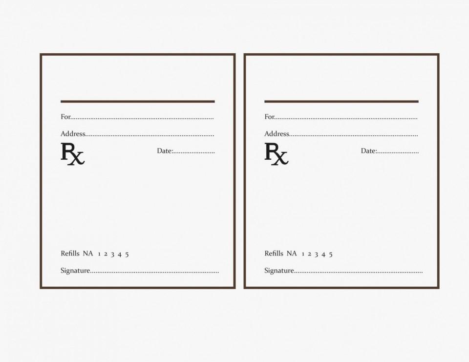 000 Fearsome Free Fake Prescription Label Template Example 960