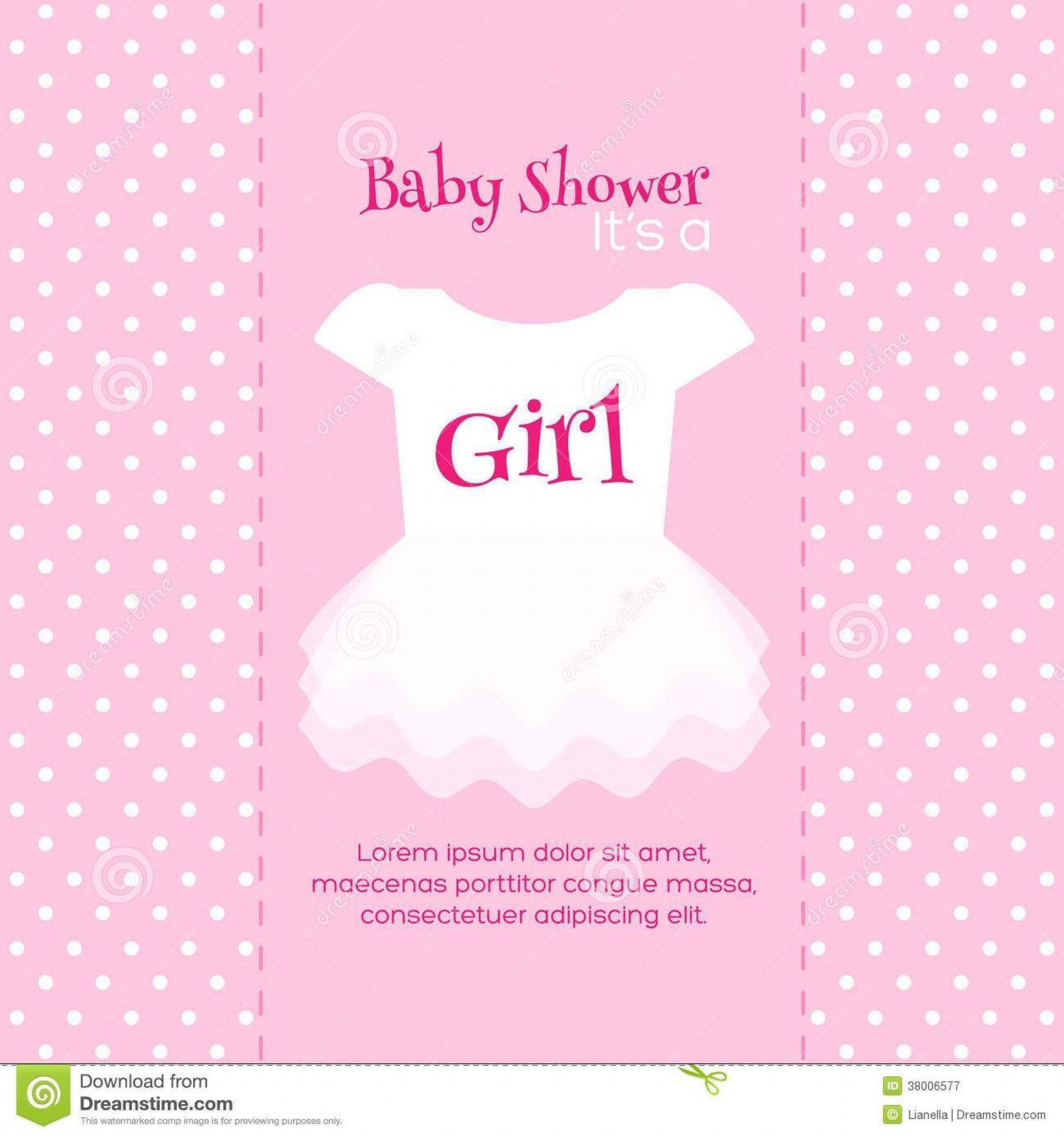 000 Fearsome Free Girl Baby Shower Invitation To Print Picture  Printable Twin1920