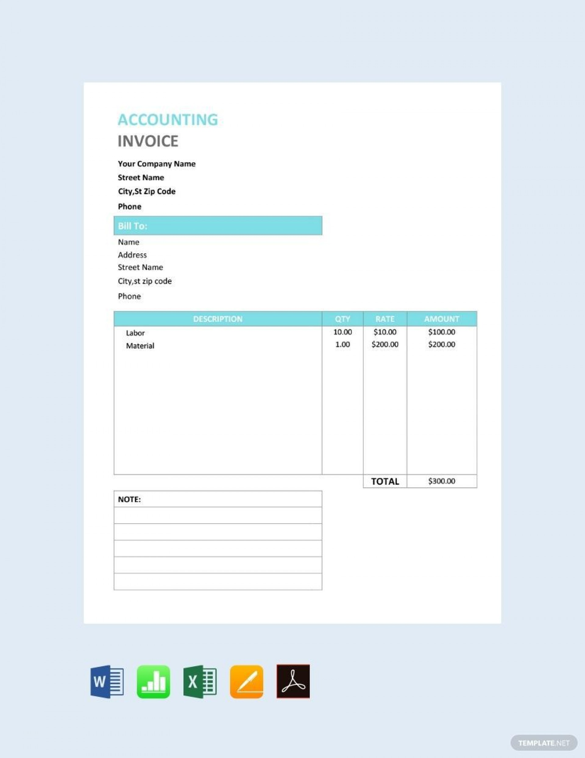 000 Fearsome Free Service Invoice Template Concept  Microsoft Word Printable Form1920