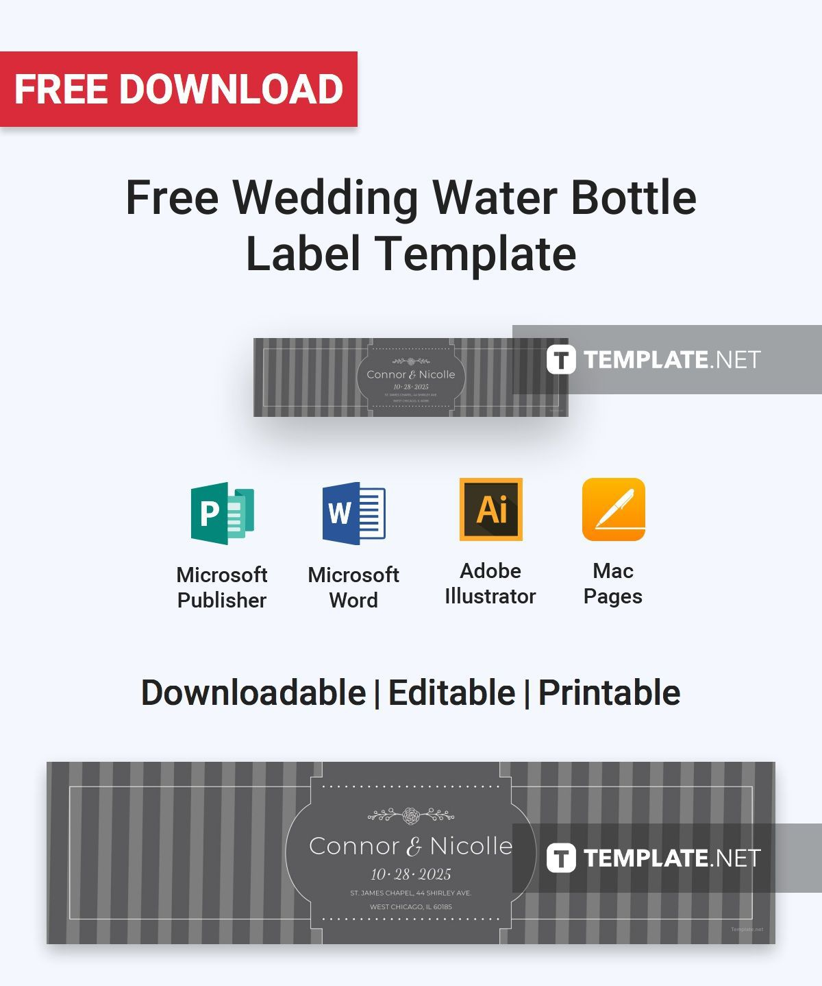 000 Fearsome Free Wedding Template For Word Water Bottle Label High Def  LabelsFull