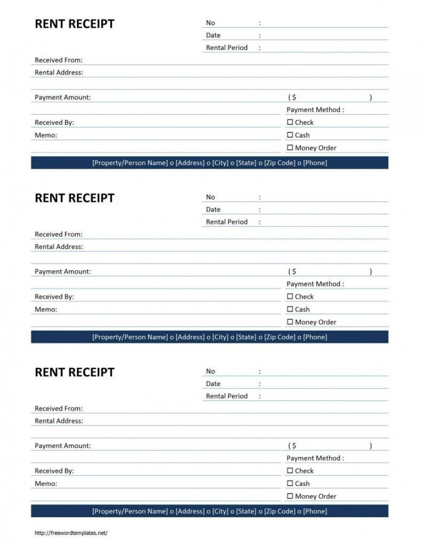 000 Fearsome House Rent Receipt Template India Doc Concept  Format Download868