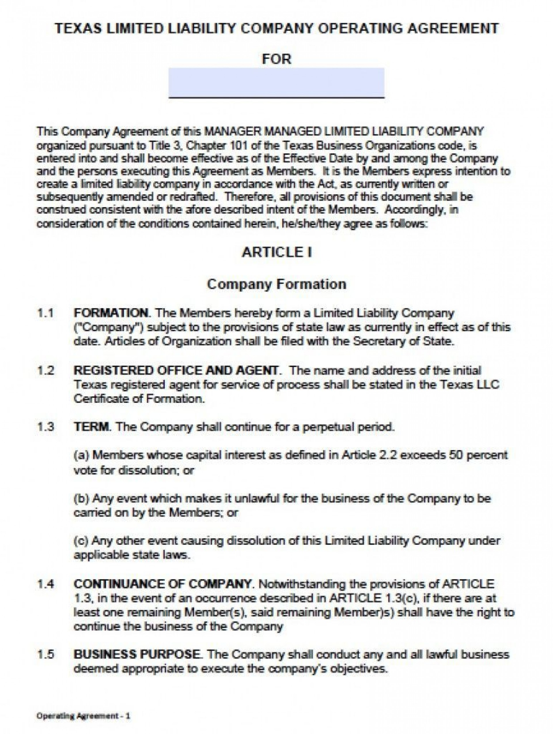 000 Fearsome Llc Operating Agreement Template Free High Resolution  Single Member Pdf Simple Download1920