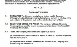 000 Fearsome Llc Operating Agreement Template Free High Resolution  Single Member Pdf Simple Download