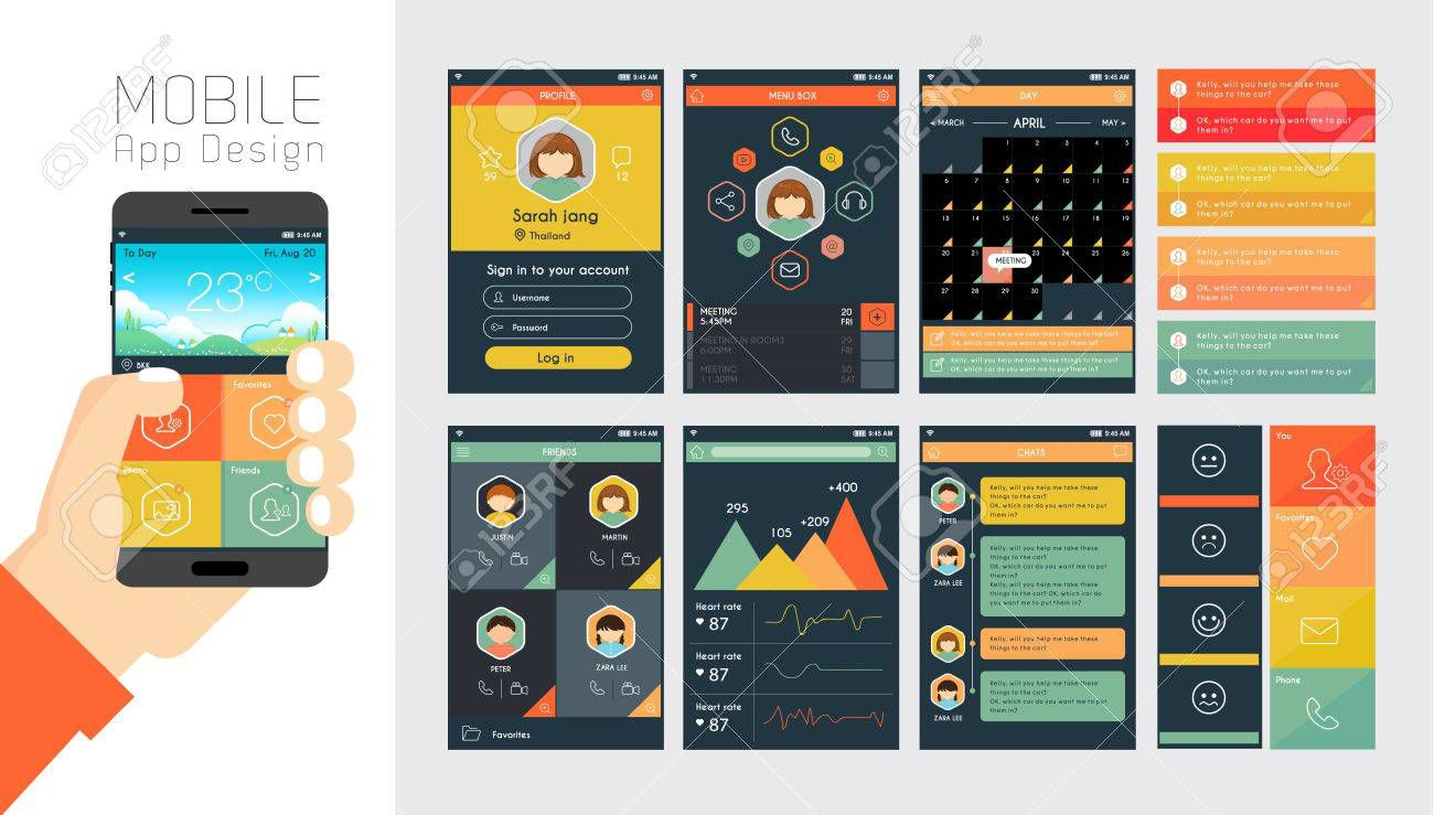 000 Fearsome Mobile App Design Template Example  Size Free Download Ui PsdFull