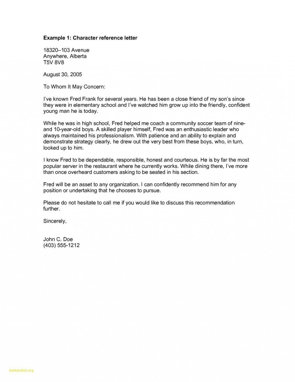 000 Fearsome Personal Reference Letter Template Highest Quality  Character Word For Rental ApplicationLarge