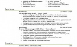 000 Fearsome Resume Sample For Teaching Position Picture  Teacher Aide In College
