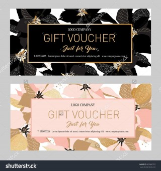 000 Fearsome Salon Gift Certificate Template Sample 320