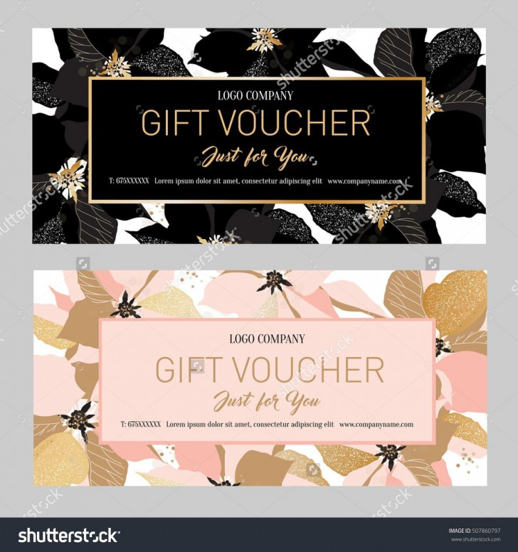 000 Fearsome Salon Gift Certificate Template Sample 728