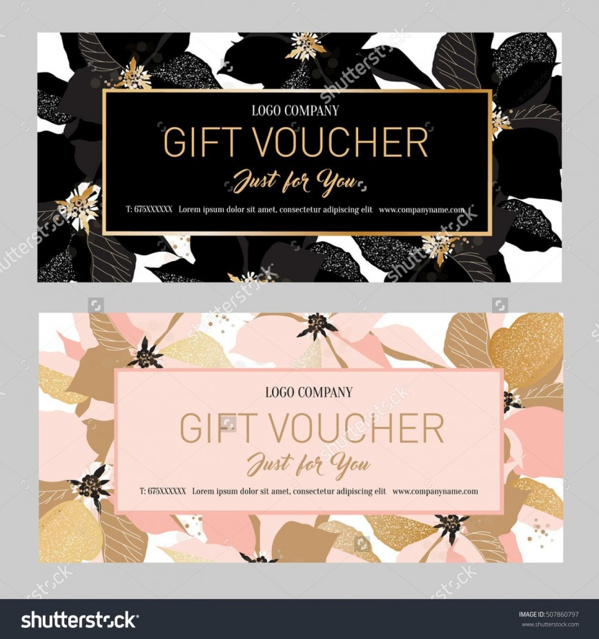 000 Fearsome Salon Gift Certificate Template Sample 868