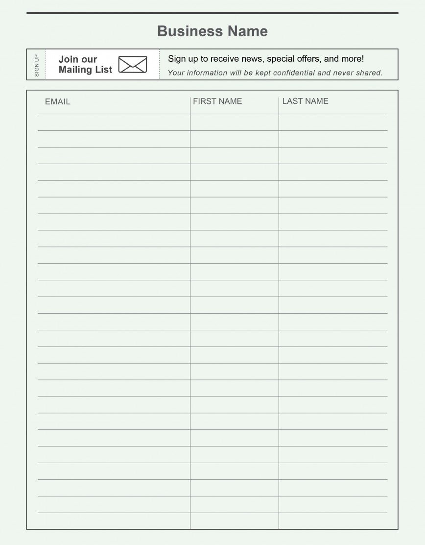 000 Fearsome Template For Sign Up Sheet High Definition  Free Employee In Training