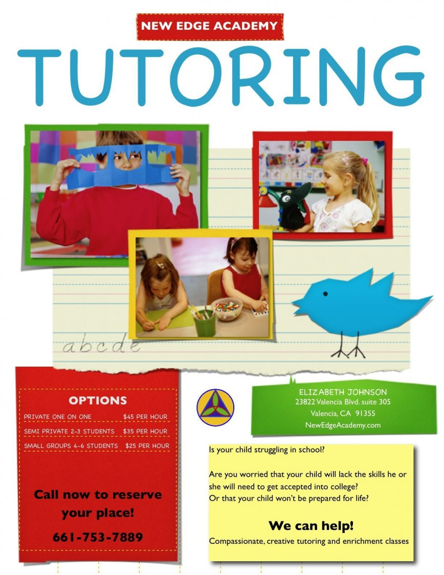 000 Fearsome Tutor Flyer Template Free Concept