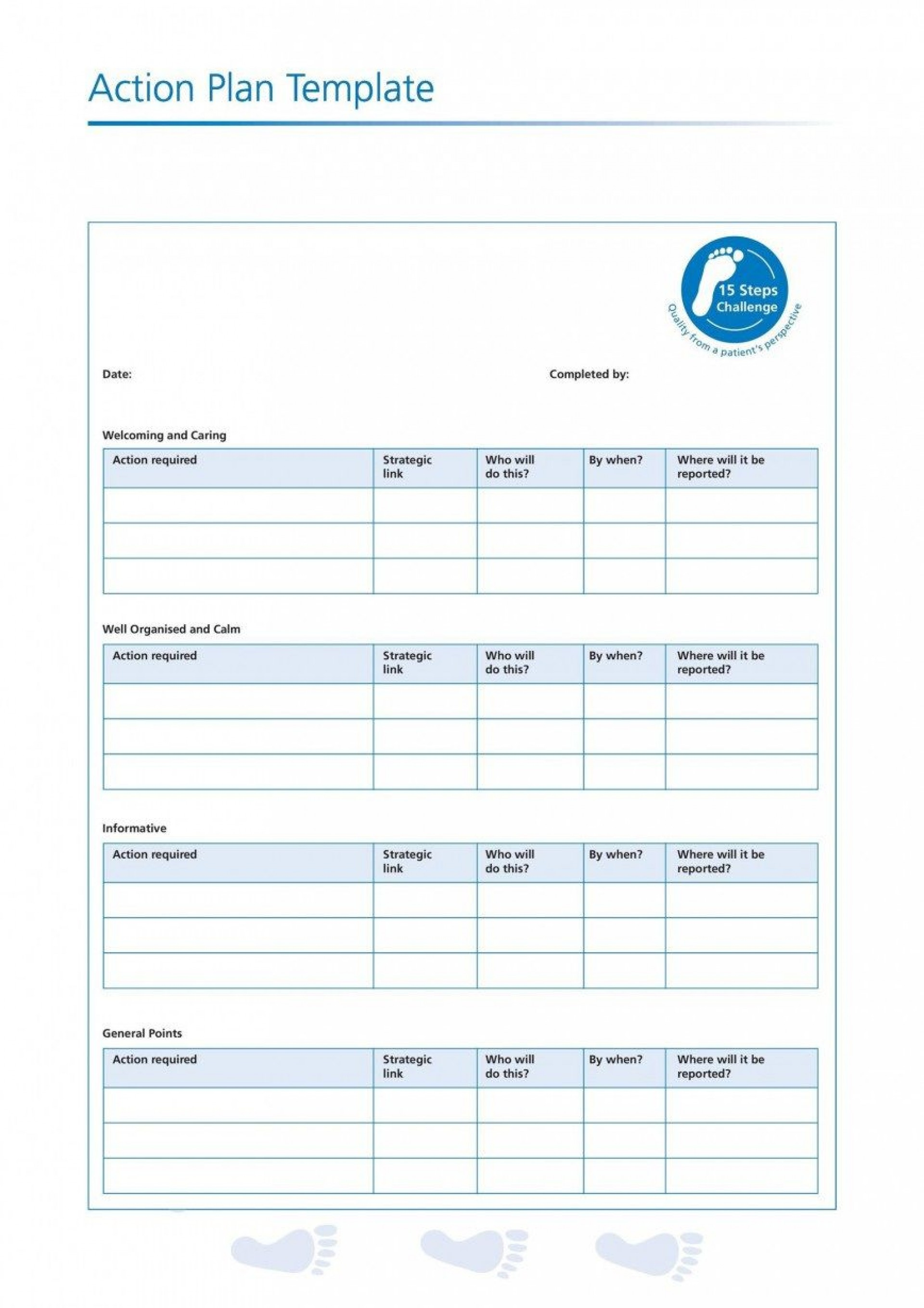000 Formidable Action Plan Template Word Highest Clarity  Corrective Free Format Sample1920