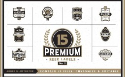 000 Formidable Beer Label Template Word Highest Quality  Free Bottle Microsoft