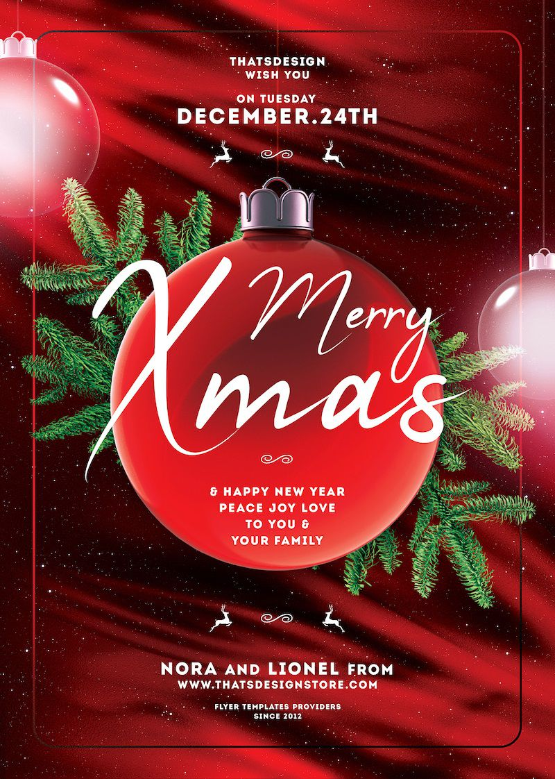 000 Formidable Christma Flyer Template Free Concept  Party Invitation Psd DownloadFull