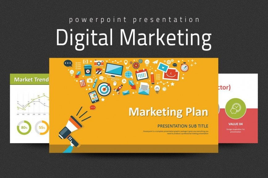 000 Formidable Digital Marketing Plan Template Free High Def  Download Ppt