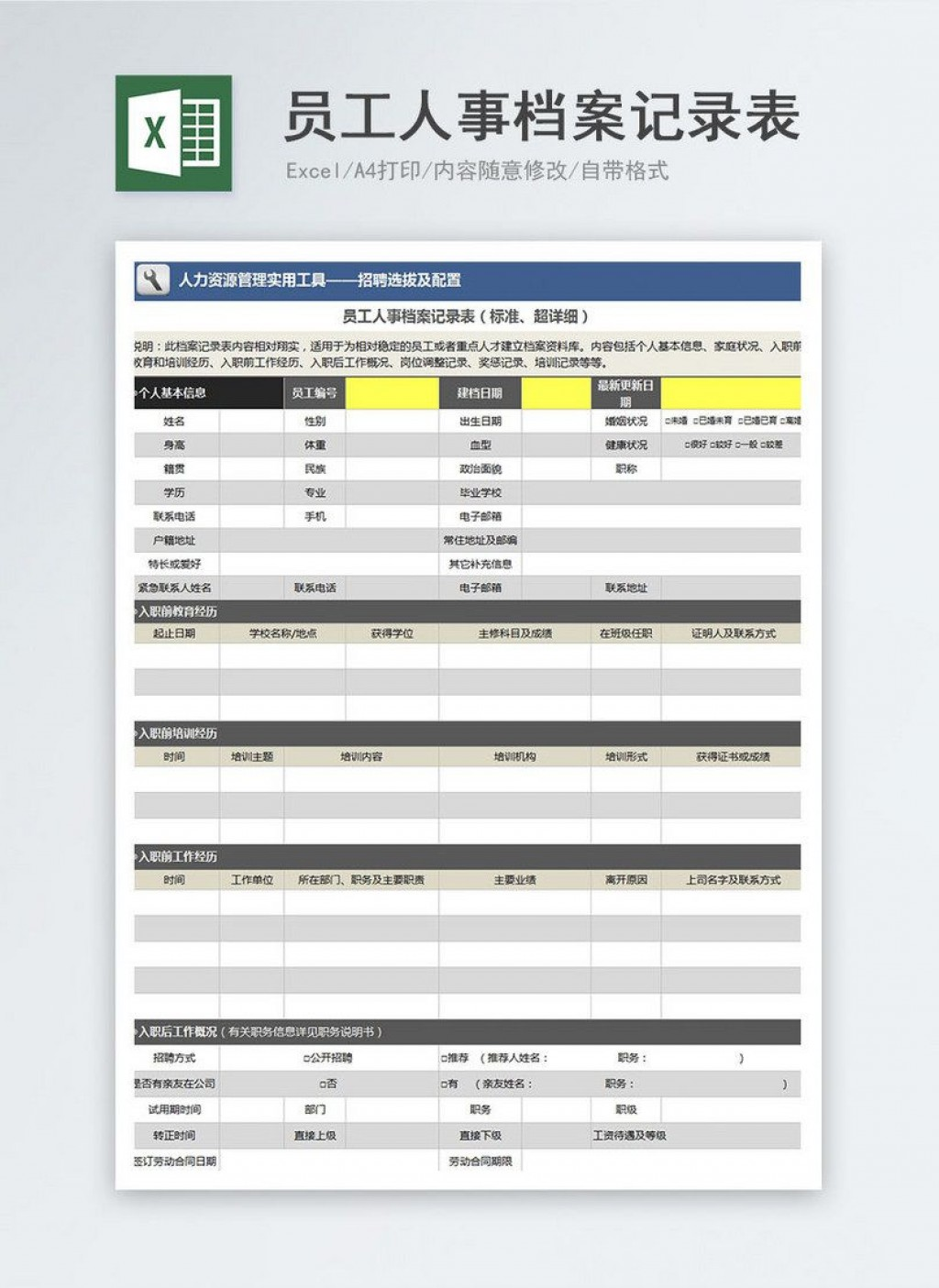 000 Formidable Employee Personnel File Template Idea  Uk Excel FormLarge