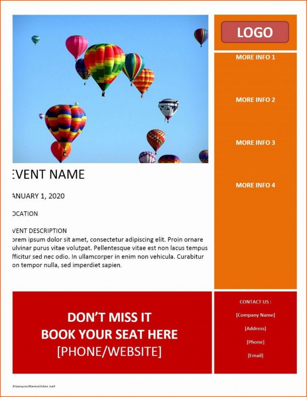 000 Formidable Event Flyer Template Word Sample  Free SpringLarge
