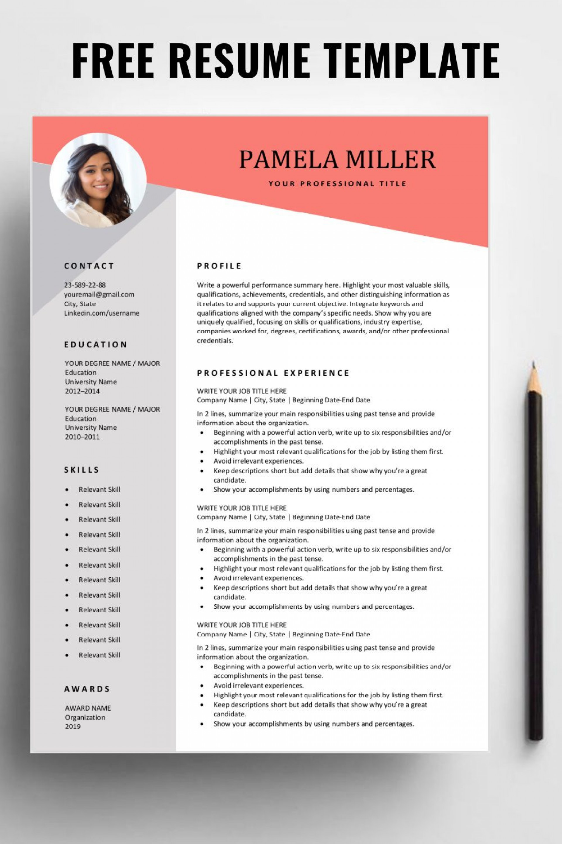 000 Formidable Free Resume Template Download High Def  Google Doc Attractive Microsoft Word 20201920