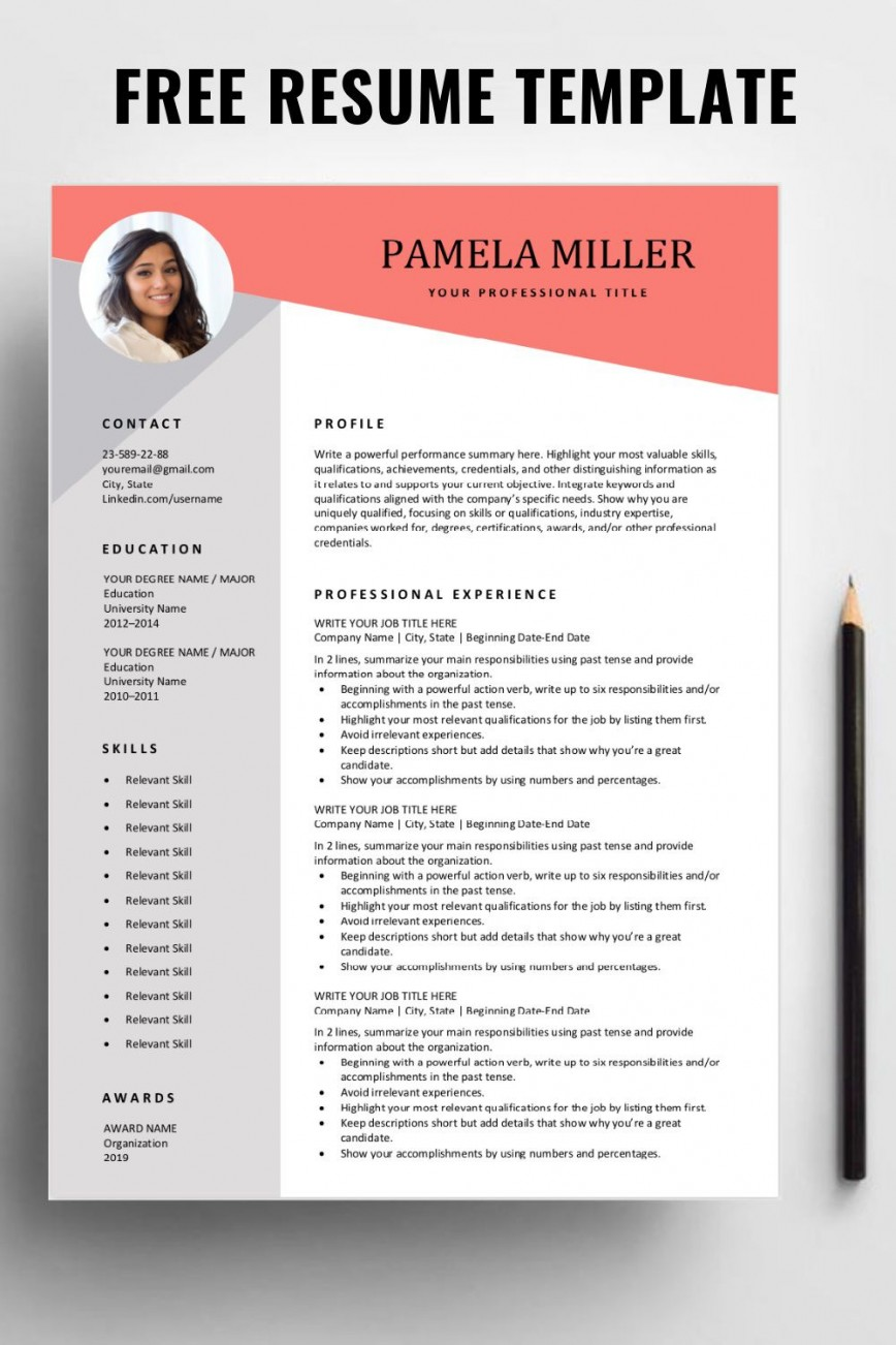 Free Resume Template Download Addictionary