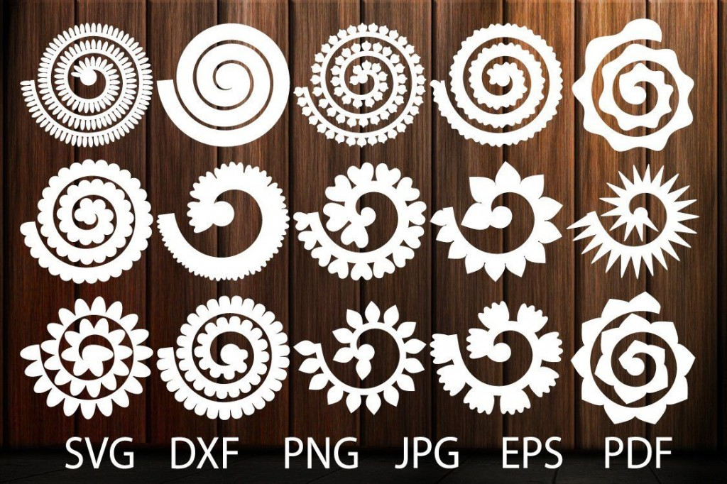 000 Formidable Free Rolled Paper Flower Template For Cricut Photo Large