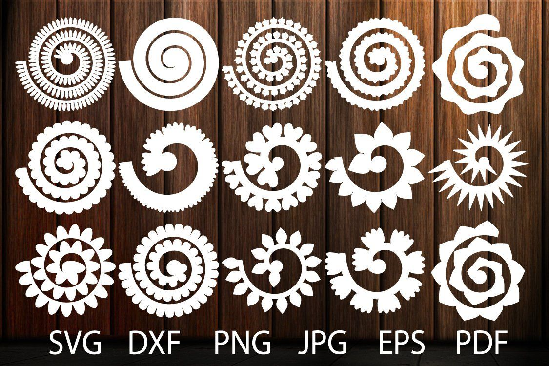 000 Formidable Free Rolled Paper Flower Template For Cricut Photo Full