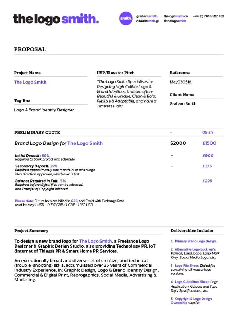 000 Formidable Graphic Design Proposal Template Doc Free Idea Full
