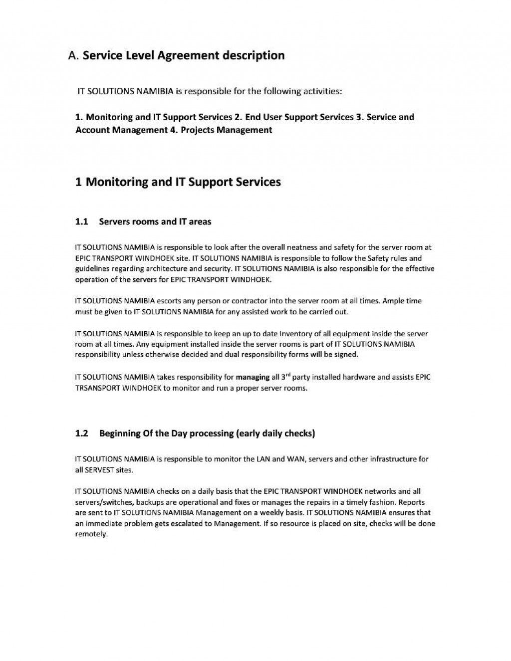 000 Formidable Service Level Agreement Template Highest Quality  South Africa Nz For Website DevelopmentLarge