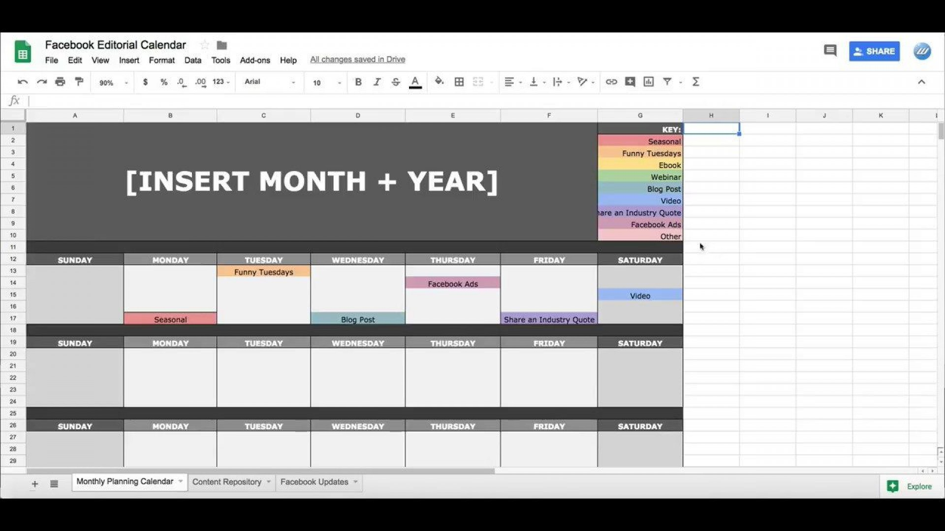 000 Formidable Social Media Editorial Calendar Template Idea  Templates Content 2019 Planning 20201920