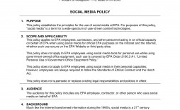 000 Formidable Social Media Policie Template High Resolution  Policy For Busines Example Nonprofit Australia Small