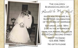 000 Frightening 50th Anniversary Invitation Template Free Image  For Word Golden Wedding Download