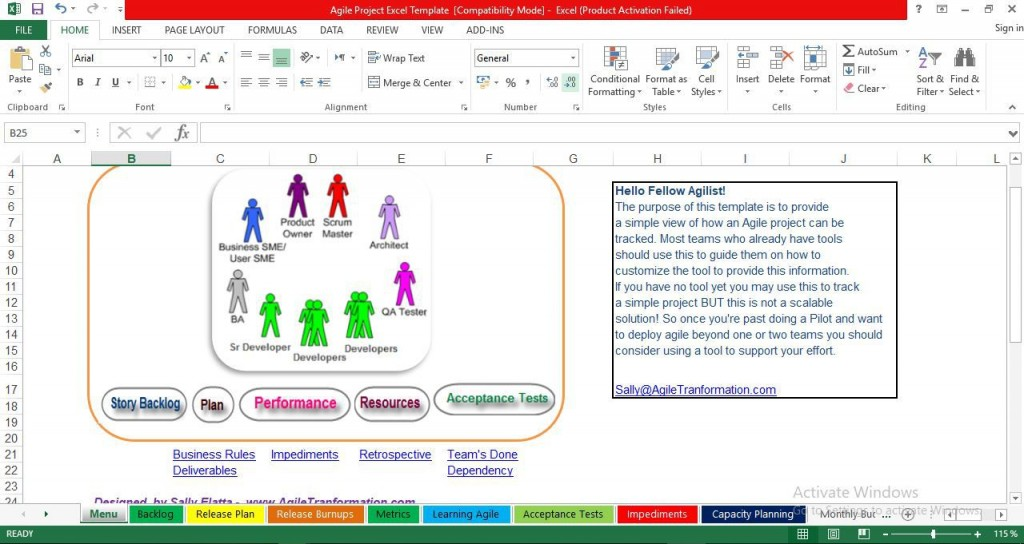 000 Frightening Agile Project Management Template Excel Free Concept Large