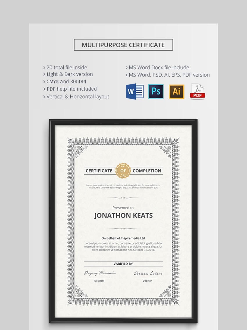 000 Frightening Award Certificate Template Word High Def  Doc Sample Wording ScholarshipFull