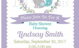 000 Frightening Baby Shower Invitation Girl Purple Concept