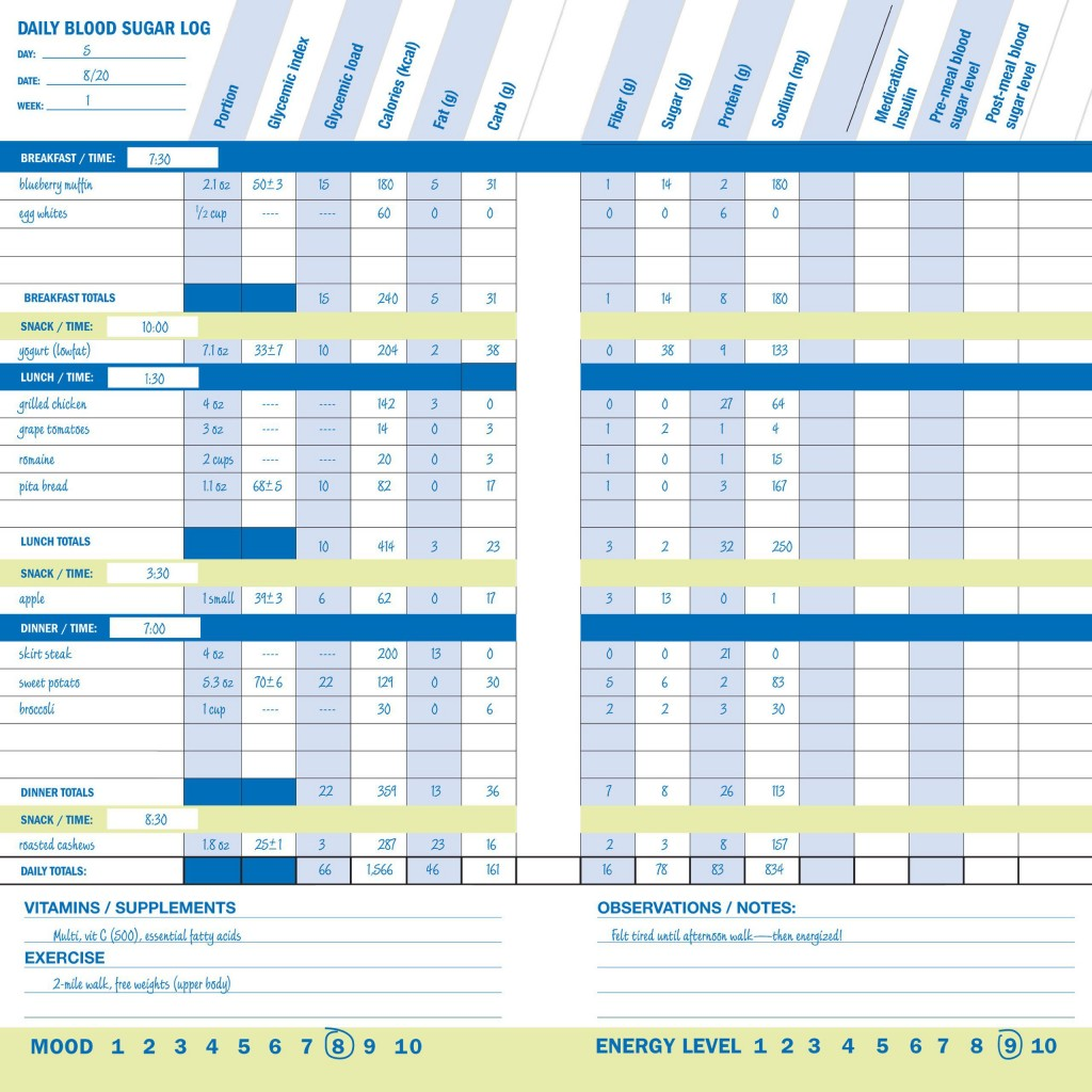000 Frightening Blood Sugar Log Book Template Picture  GlucoseLarge