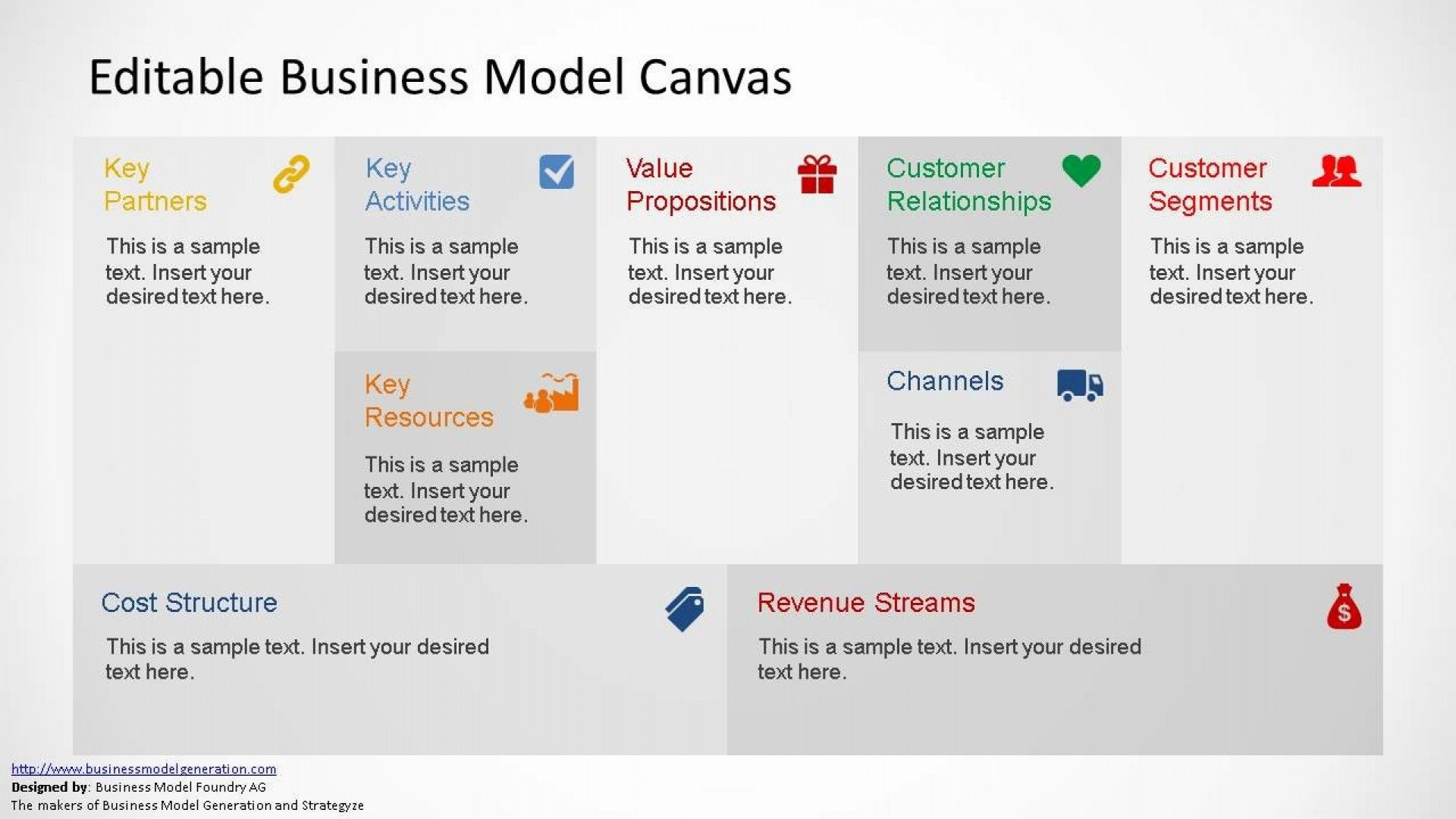 Business Model Canvas Template Ppt Addictionary