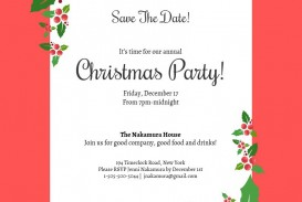 000 Frightening Christma Party Invitation Template Idea  Holiday Download Free Psd