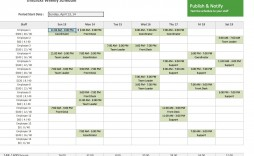 000 Frightening Employee Schedule Template Free Sample  Downloadable Weekly Work Training Excel Shift