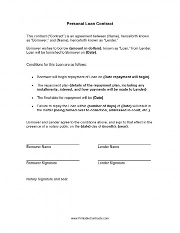 000 Frightening Family Loan Agreement Template Canada Highest Quality 360