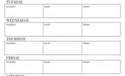 000 Frightening Free Printable Weekly Meal Plan Template Design  Planning Worksheet