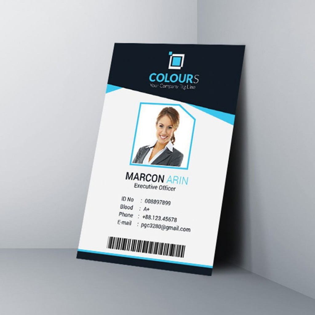 000 Frightening Id Badge Template Free Online Concept Large